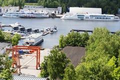 Пейзаж на яхт-клубе Стоковое фото RF