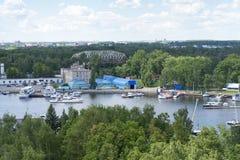 Пейзаж на яхт-клубе Стоковые Фотографии RF
