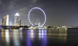 Пейзаж на Bayfront в Сингапуре Стоковое Изображение RF
