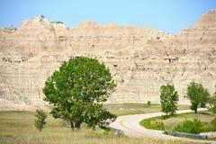 Пейзаж неплодородных почв Дакоты Стоковое Изображение