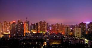 Пейзаж ночи города Стоковое Изображение RF