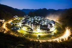 Пейзаж ночи китайской сельской местности Стоковые Фото
