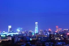 Пейзаж ночи Пекина Стоковые Изображения RF