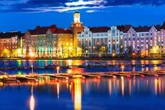Пейзаж ночи Хельсинки, Финляндии стоковое изображение