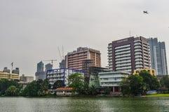 Пейзаж озера в Коломбо, Шри-Ланка стоковое изображение