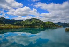 Пейзаж озера в Tohoku, Японии Стоковые Фотографии RF