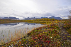 Пейзаж озера осен стоковые фотографии rf
