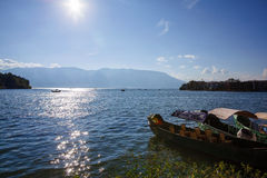 Пейзаж озера Erhai Стоковое фото RF