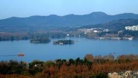 пейзаж озера hangzhou западный стоковое фото