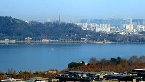 пейзаж озера hangzhou западный Стоковые Фото