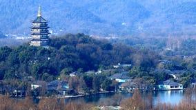 пейзаж озера hangzhou западный стоковая фотография rf