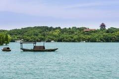 Пейзаж озера Tianmu Стоковая Фотография