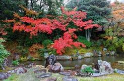 Пейзаж осени красивого японского сада в вилле Katsura имперской стоковые фотографии rf