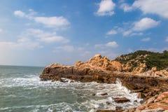 Пейзаж острова Putian Meizhou Стоковые Изображения RF