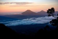 Пейзаж от горы Индонезии Стоковая Фотография