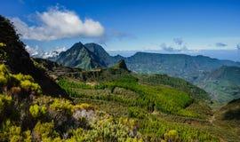 Пейзаж от mafatte, реюньон Ла Стоковое Фото