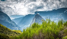 Пейзаж от mafatte, реюньон Ла Стоковая Фотография