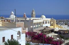 Пейзаж от Santorini Стоковые Фото