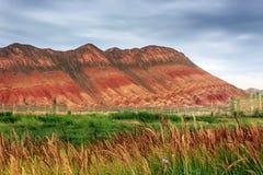Пейзаж парка danxia Zhang ye геологохимический Стоковые Изображения
