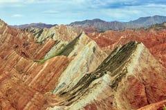 Пейзаж парка danxia Zhang ye геологохимический Стоковое фото RF