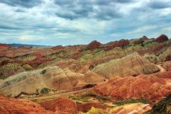 Пейзаж парка danxia Zhang ye геологохимический Стоковое Фото