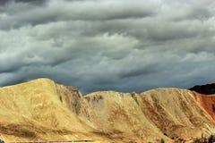 Пейзаж парка danxia Zhang ye геологохимический Стоковая Фотография RF