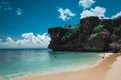 Пейзаж пляжа Бали стоковые изображения