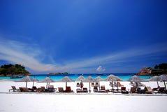 пейзаж пляжа Стоковое фото RF