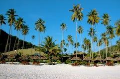 пейзаж пляжного комплекса Стоковое Изображение RF