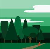 Пейзаж полесья Стоковая Фотография RF