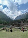Пейзаж плато злаковика- Tagong в Сычуань, Китае Стоковые Фото