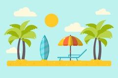 Пейзаж пляжа лета Стоковые Изображения RF