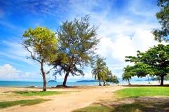 пейзаж пляжа тропический Стоковая Фотография