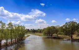 пейзаж реки общины фарфора Пекин новый селитебный Стоковое Фото