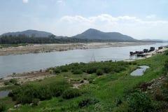 Пейзаж реки Mae Khong Стоковое фото RF