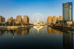 Пейзаж Рекы Haihe в Тяньцзине стоковое изображение