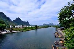 Пейзаж Рекы Lijiang Стоковое Фото