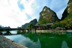 Пейзаж Рекы Lijiang Стоковые Изображения RF