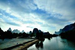 Пейзаж Рекы Lijiang Стоковое Изображение