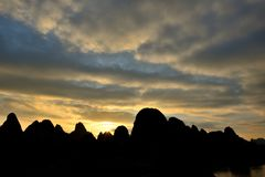 Пейзаж Рекы Lijiang Стоковое Изображение RF