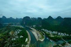 Пейзаж Рекы Lijiang Стоковые Изображения