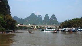 Пейзаж Рекы Lijiang Стоковое фото RF