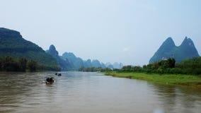Пейзаж Рекы Lijiang Стоковая Фотография RF