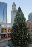 Пейзаж рождества в Бостоне Стоковая Фотография RF