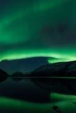 Пейзаж северного сияния стоковые фотографии rf