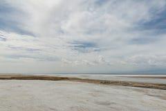 Пейзаж соляного озера Стоковое фото RF