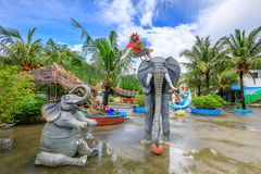 Пейзаж счастливого тематического парка Dreamland в острове Boracay Стоковая Фотография