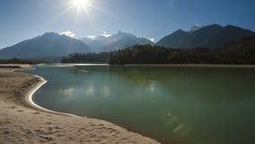 Пейзаж Тибета Стоковое Изображение RF