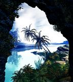 пейзаж тропический стоковое изображение rf