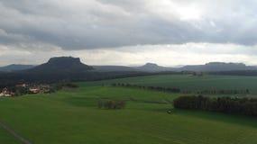 Пейзаж Швейцарии Saxon Стоковые Фотографии RF